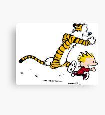 Calvin and Hobbes Run Canvas Print
