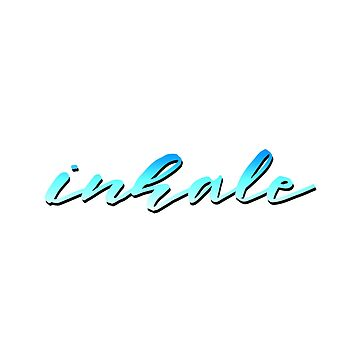 Inhale Typography by warddt