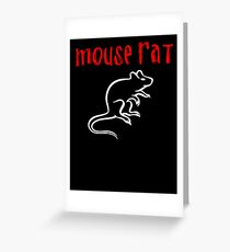 Maus Ratte Grußkarte