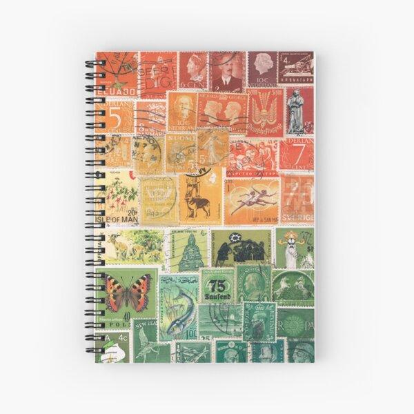 Sunset Landscape - Postage Stamp Art Spiral Notebook