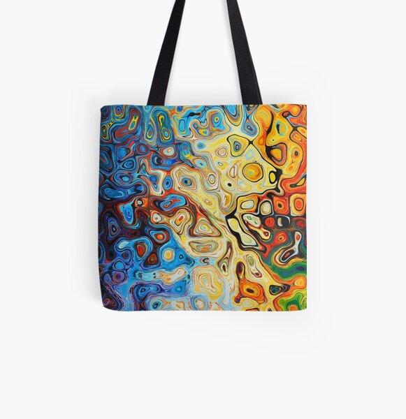 Sueño abstracto colorido Bolsa estampada de tela