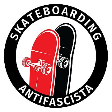 Antifa Logo Antifascist Action Skateboard Skater Skateboarding by fabianb