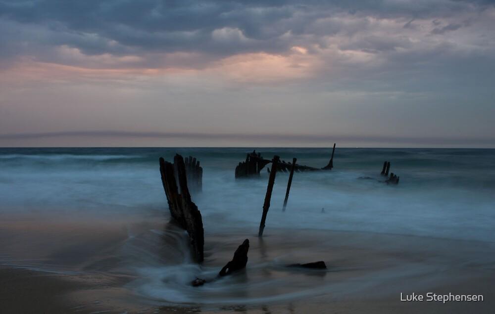 Dickies Beach Wreck by Luke Stephensen