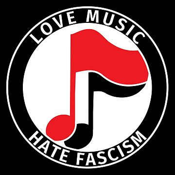 Antifa Logo - Love Music Hate Fascism by fabianb