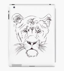 Lioness Face Pencil Drawing iPad Case/Skin