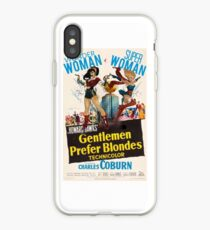 Gentlemen prefer blondes iPhone Case