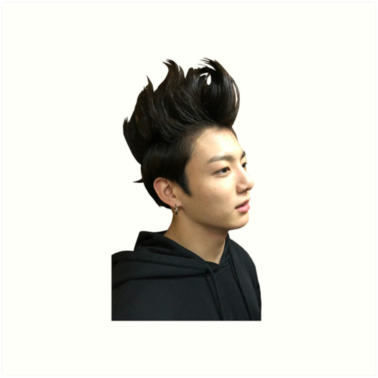 Jungkook Spiky Hair Meme Art Prints By Hollywood Jurina Redbubble