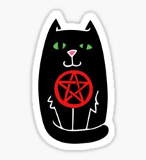 Pentagram Witchy Black Cat Sticker