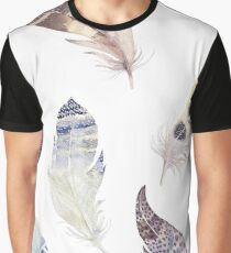 Pastel earth tones tribal feathers pattern Graphic T-Shirt