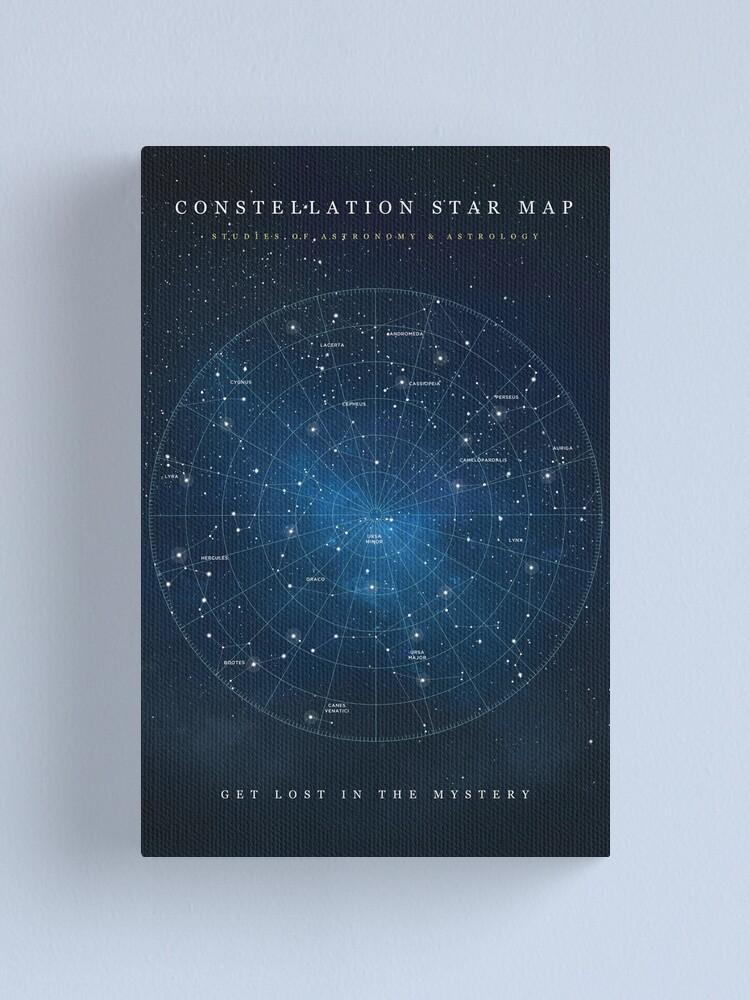 Alternate view of Constellation Star Map Canvas Print