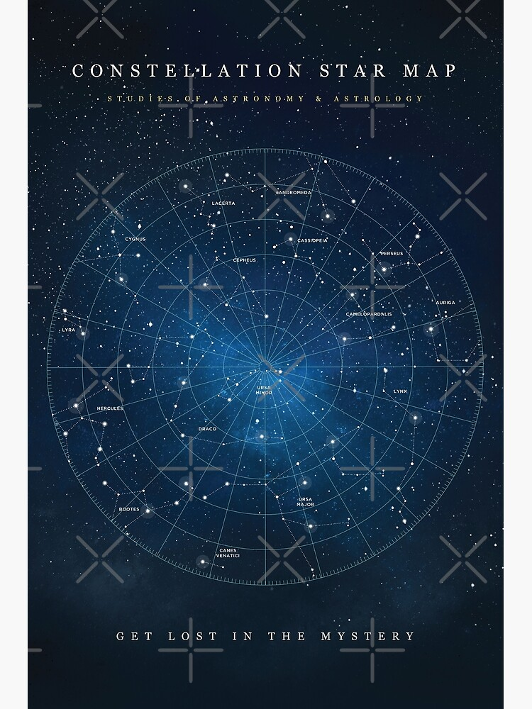 Constellation Star Map by coffeewithmilk