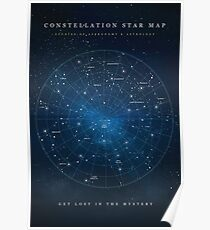 Constellation Star Map Poster