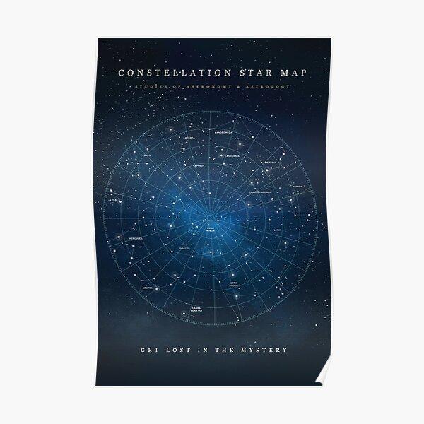 Constellation Star Map Poster