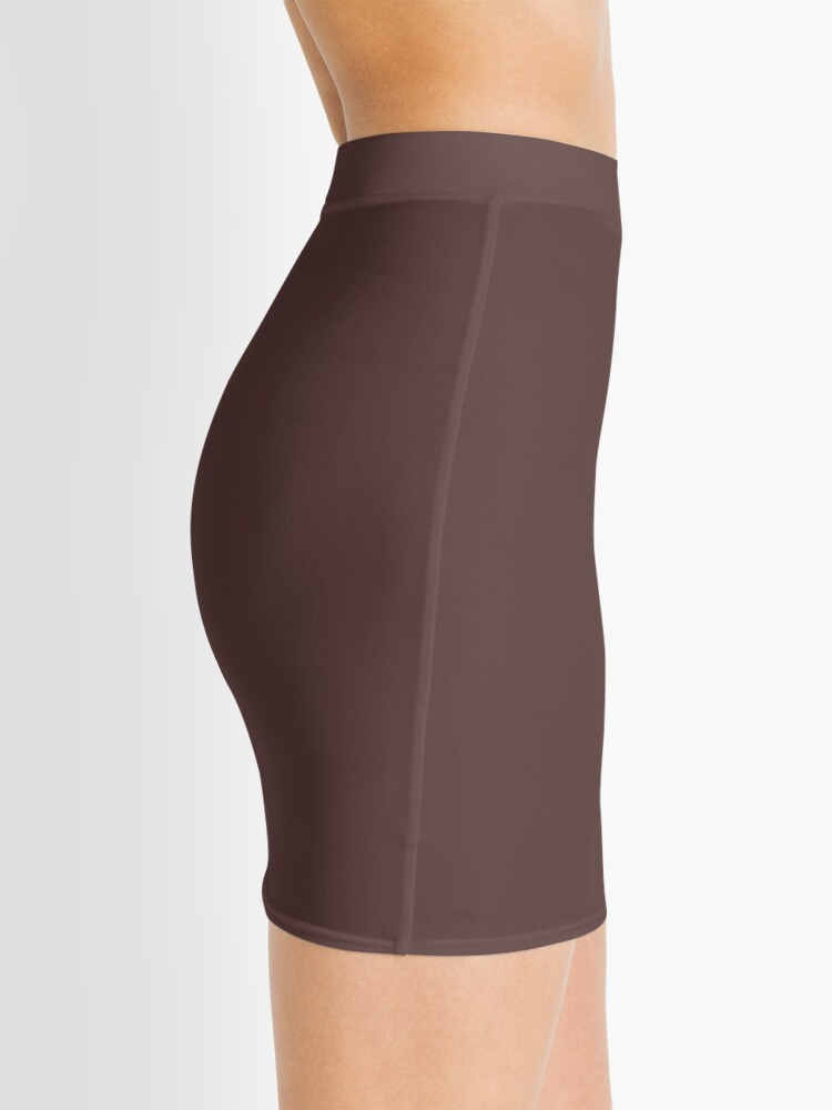 Alternate view of Dark Brown Granite Fashion Color Trends Spring Summer 2019 Mini Skirt