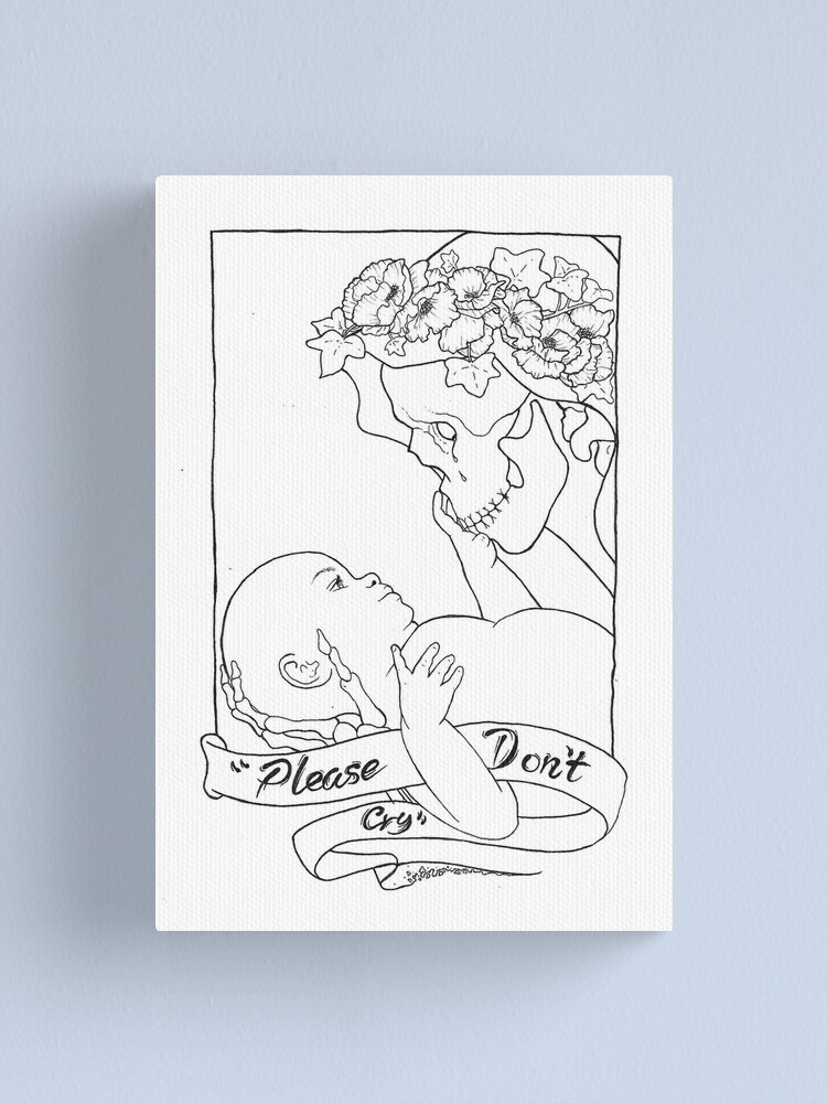 Alternate view of Please Don't Cry  Canvas Print
