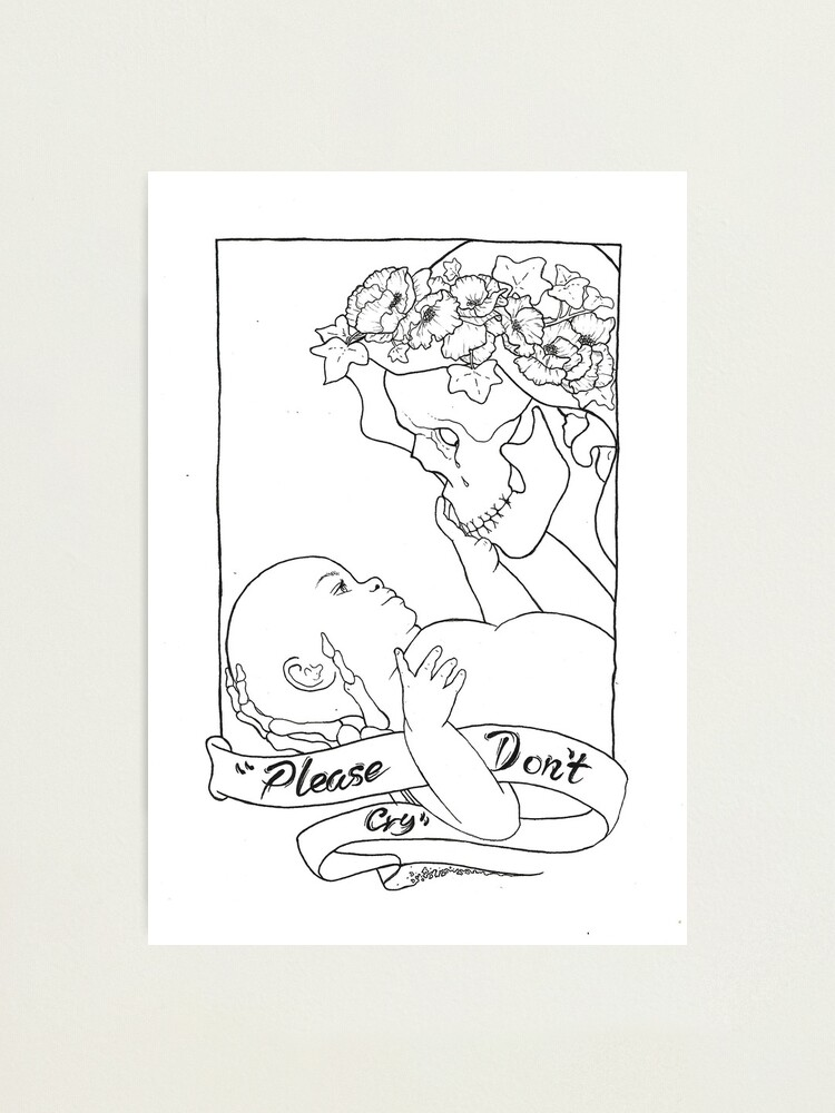 Alternate view of Please Don't Cry  Photographic Print