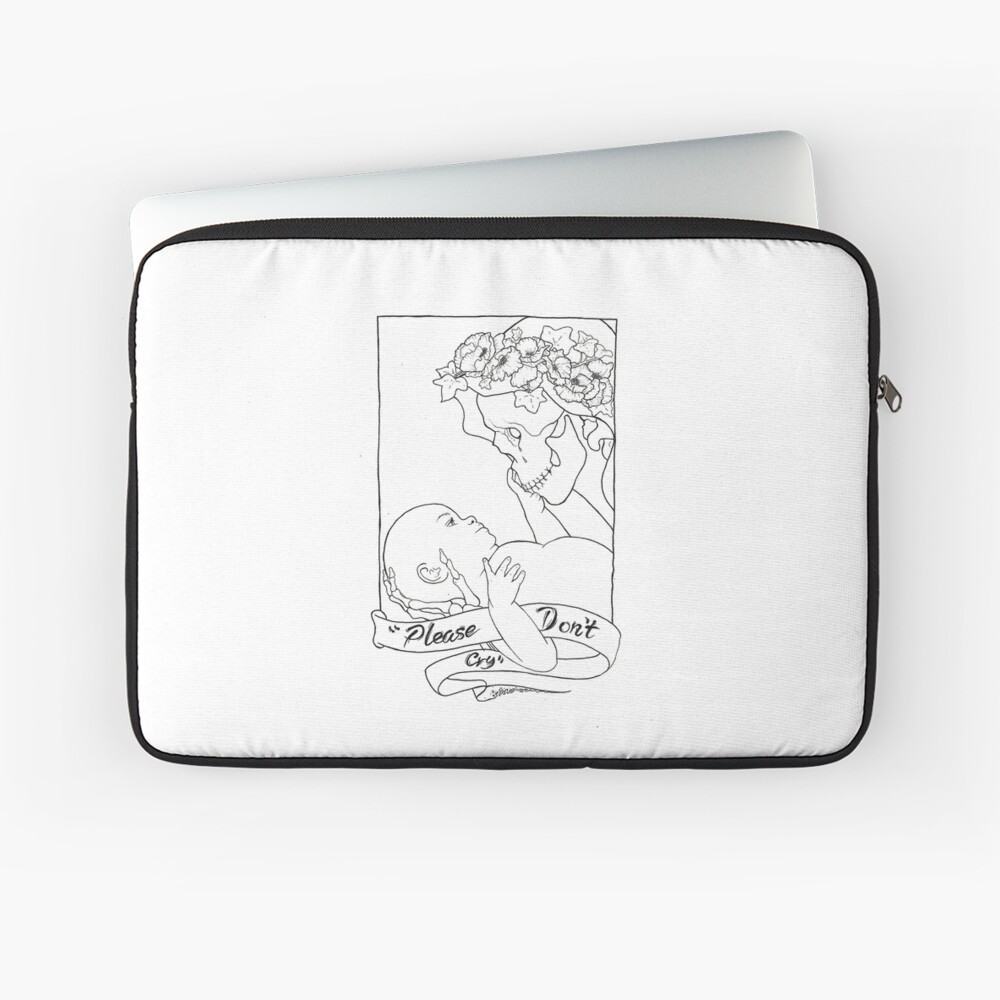 Please Don't Cry  Laptop Sleeve