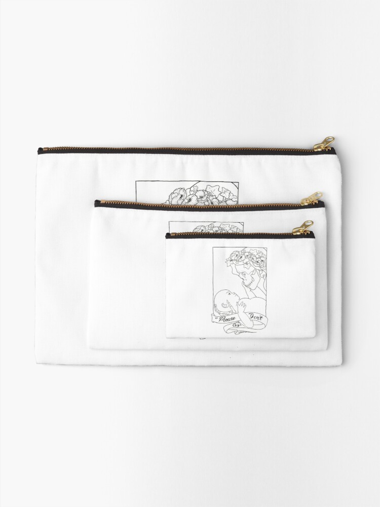 Alternate view of Please Don't Cry  Zipper Pouch