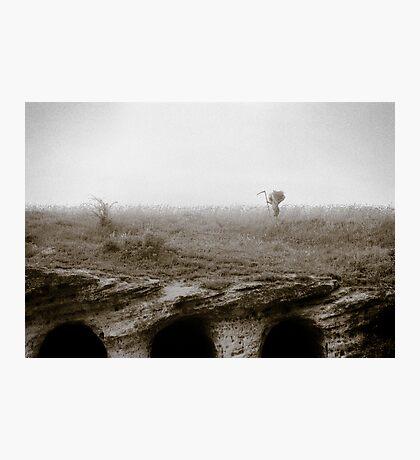 Hay Gatherer Photographic Print