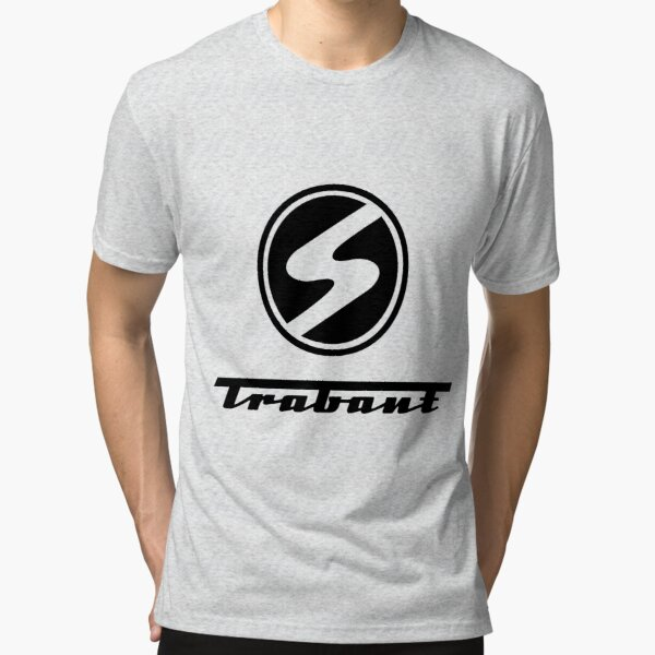 Trabant t-shirt - the DDR East German Automotive Marvel - Trabby - in black Tri-blend T-Shirt
