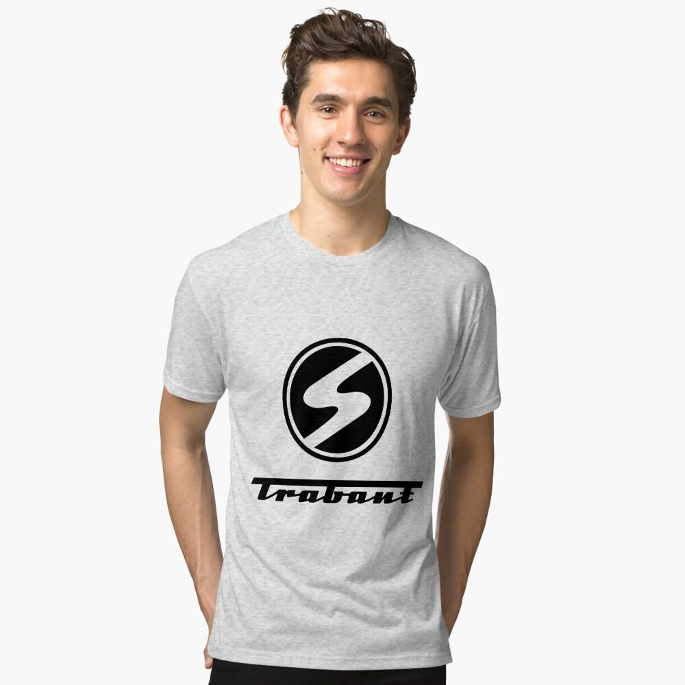 Trabant t-shirt - the DDR East German Automotive Marvel - Trabby - in black Tri-blend T-Shirt