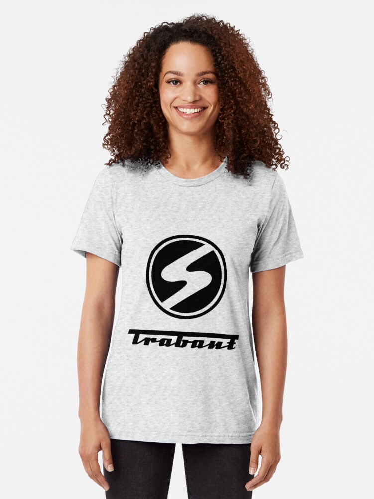 Alternate view of Trabant t-shirt - the DDR East German Automotive Marvel - Trabby - in black Tri-blend T-Shirt