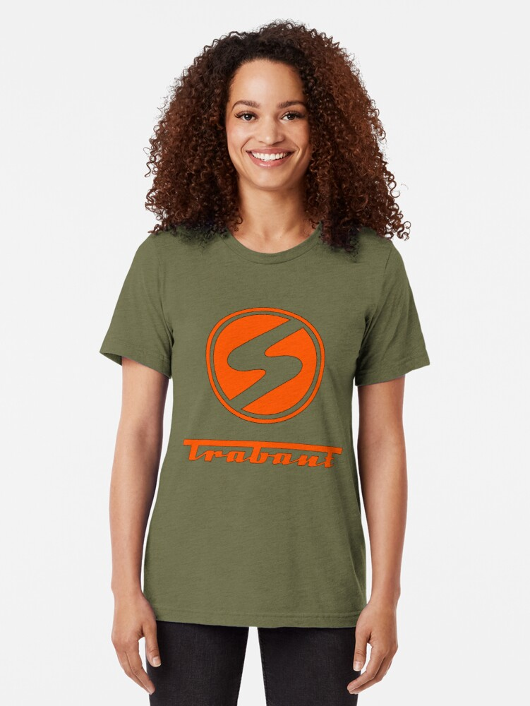 Alternate view of Trabant t shirt - the DDR East German Automotive Marvel - Trabby  Tri-blend T-Shirt