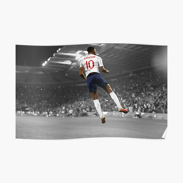 7 Marcus Rashford English Football Player Poster Sport Photo Motivation Quote