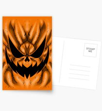 Spooky Faces - Jackolantern Postcards