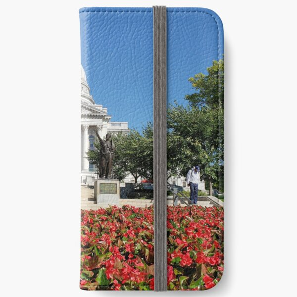 Capitol Building Madison Wisconsin from State Street iPhone Wallet