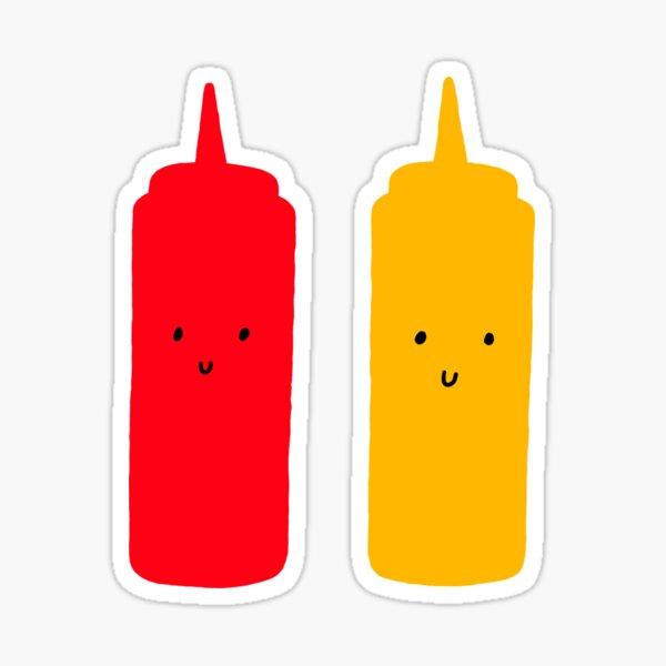 Ketchup and Mustard Sticker