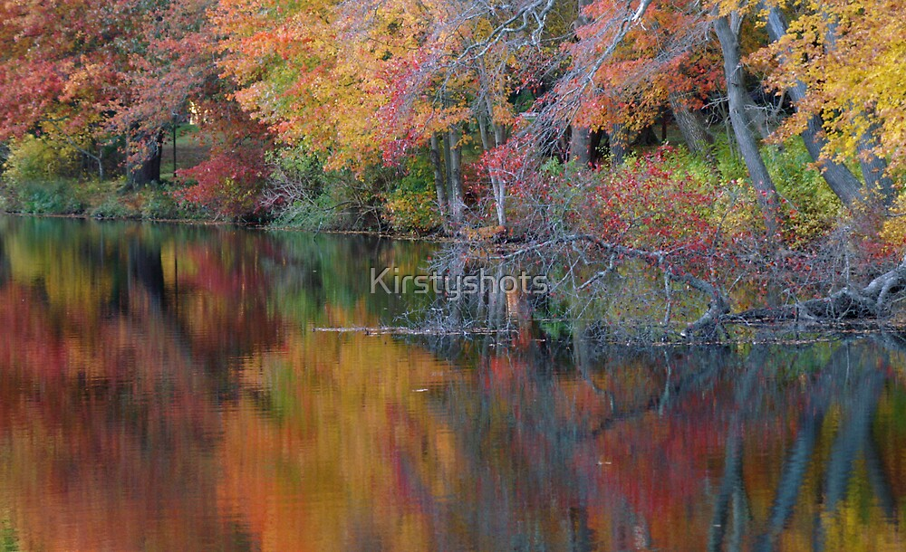 Fall Pond by Kirstyshots
