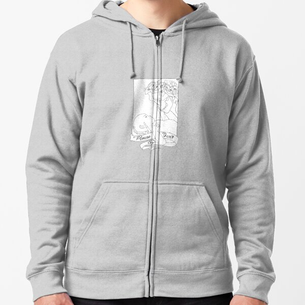 Please Don't Cry  Zipped Hoodie