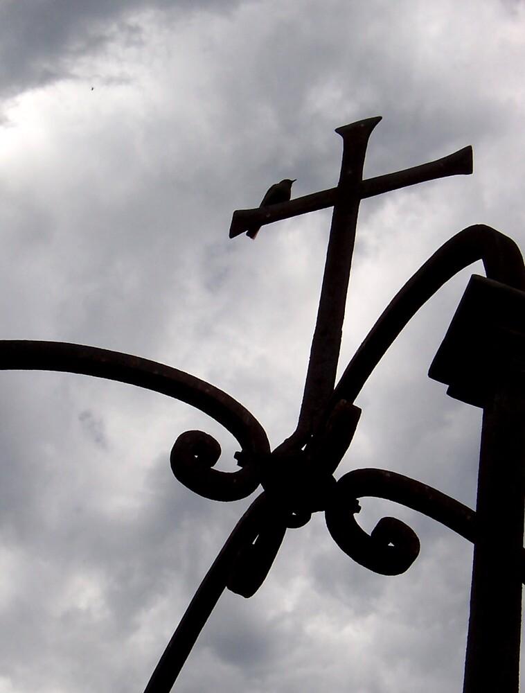 Bird on the Cross by AngryGoldfish