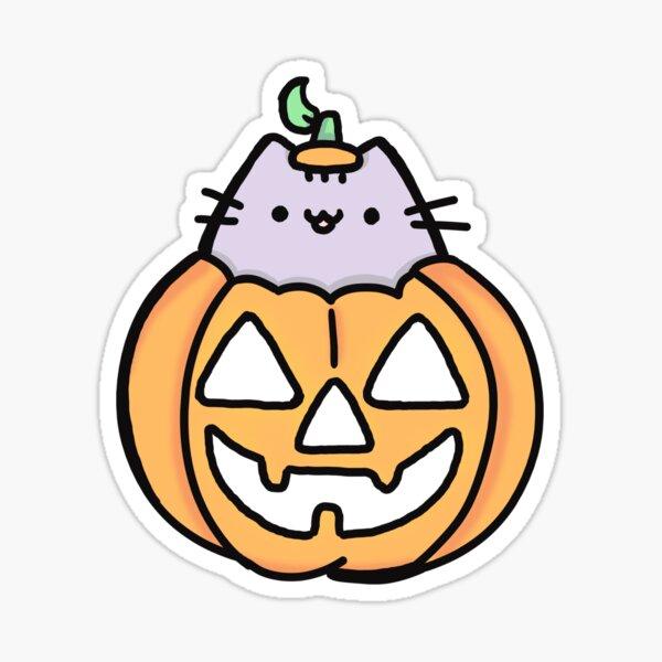 pumpkin cat Sticker