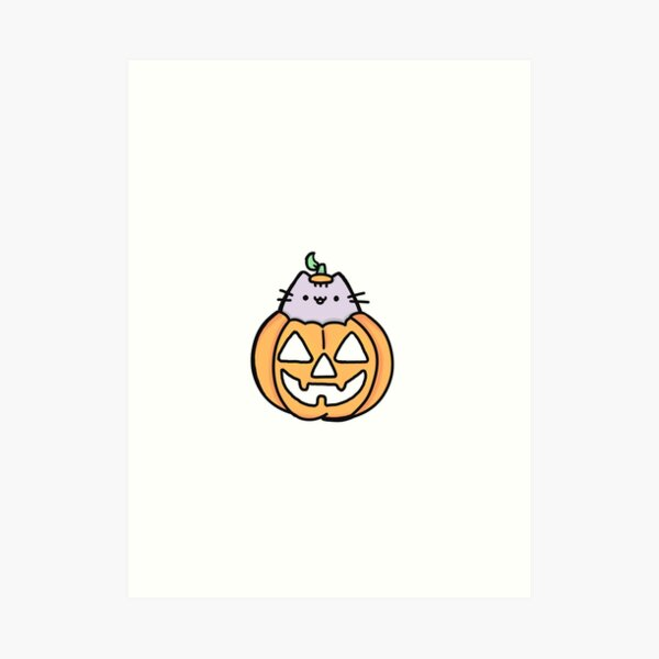 pumpkin cat Art Print