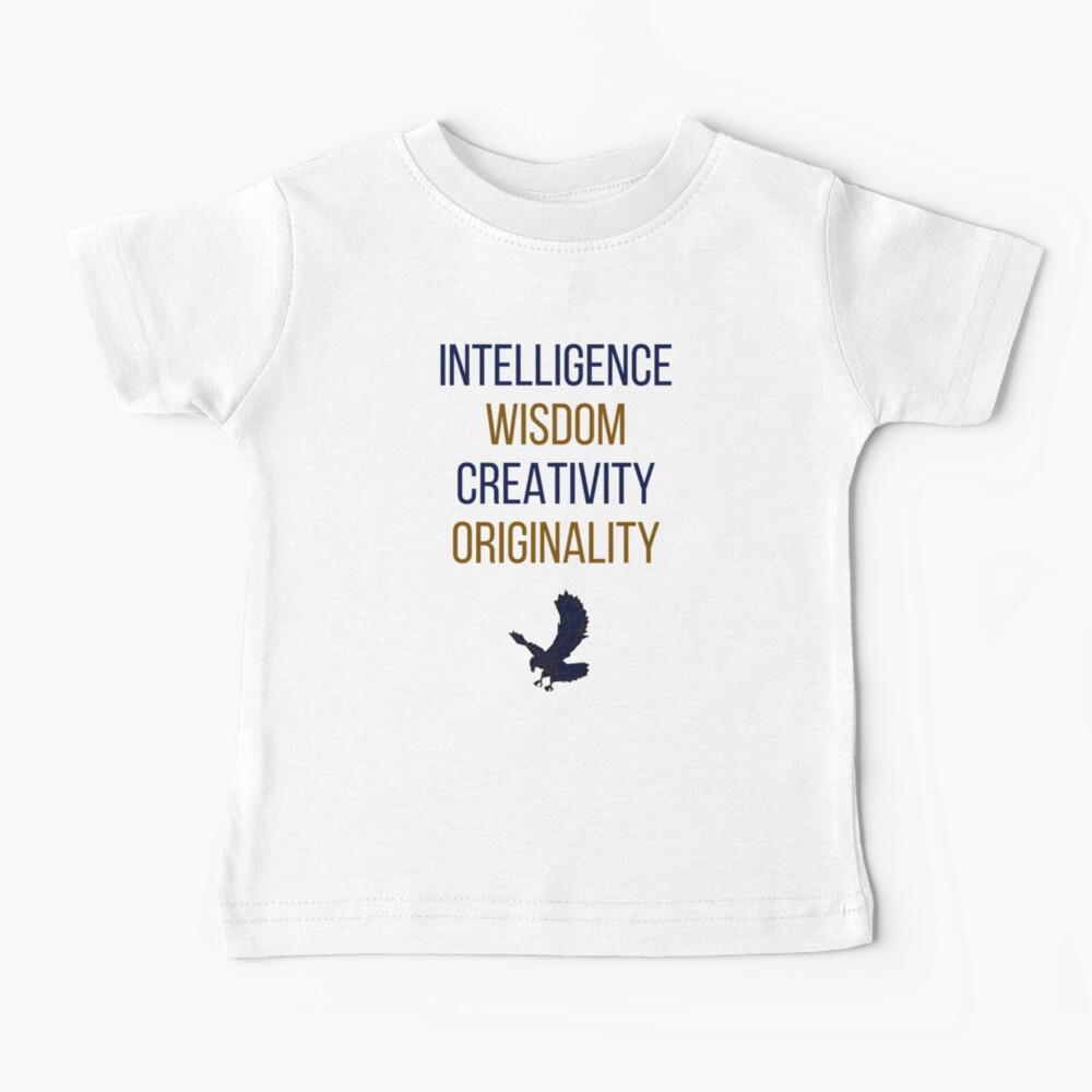 Blaue Wörter Baby T-Shirt