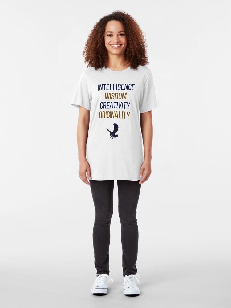Alternative Ansicht von Blaue Wörter Slim Fit T-Shirt