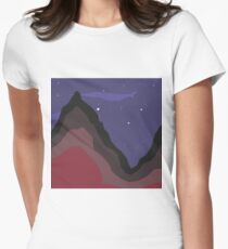 Mountain at night Women's Fitted T-Shirt