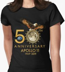 50th Anniversary Apollo 11 moon landing 1969-2019 Women's Fitted T-Shirt