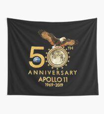 50th Anniversary Apollo 11 moon landing 1969-2019 Wall Tapestry