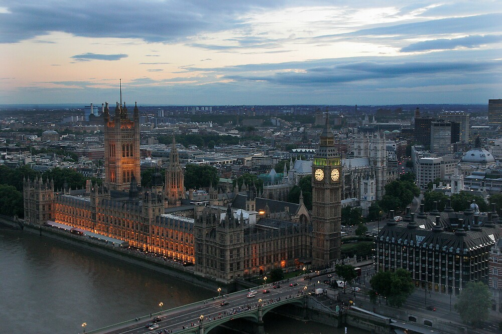 Westminster Bridge View seen From The London Eye by stebird