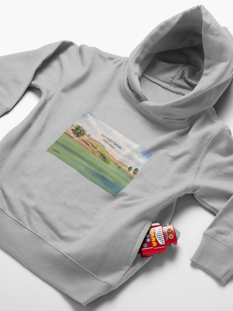 Alternate view of Shinnecock Hills Golf Course with Eat Sleep Dream Play Golf Toddler Pullover Hoodie