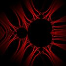 Red Kirlian Mandelbrot by Rupert Russell