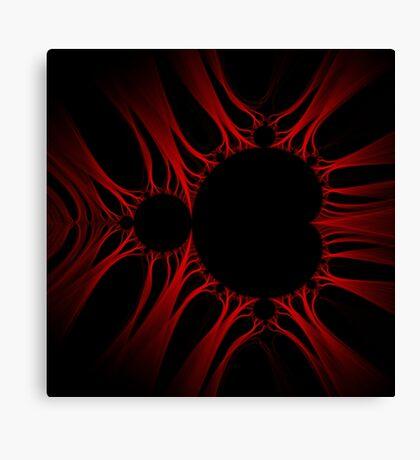 Red Kirlian Mandelbrot Canvas Print