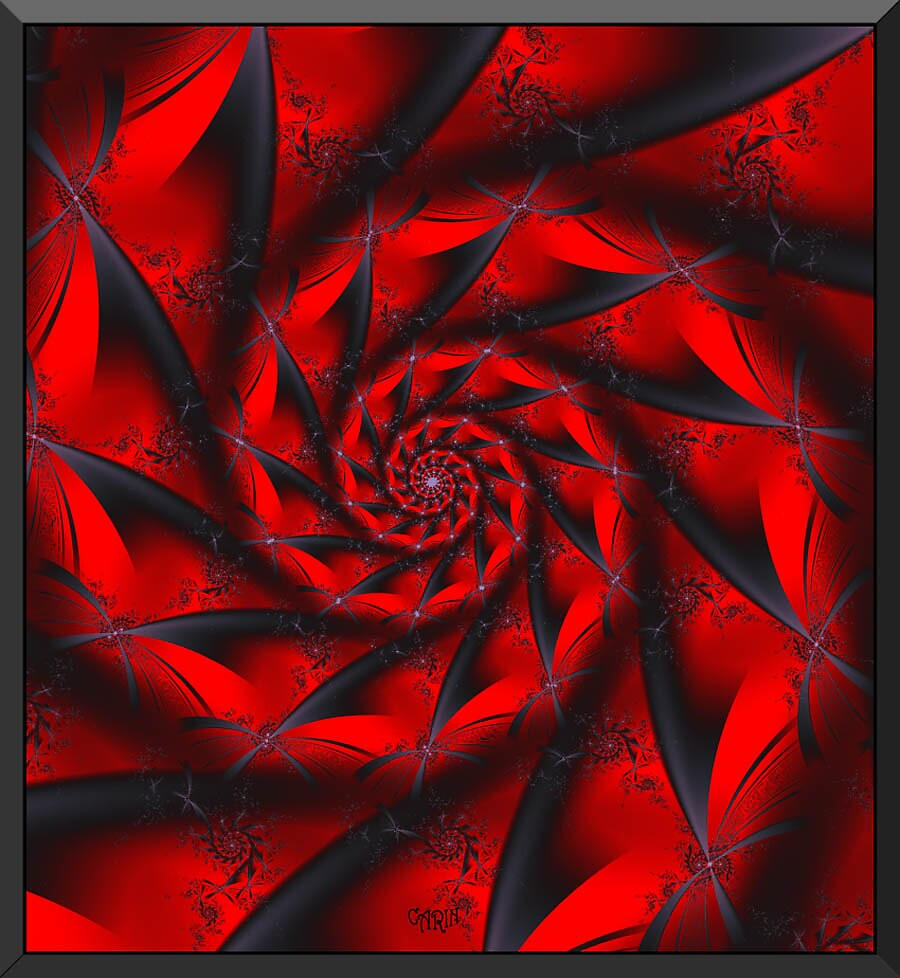 Red and black swirly by FractaliaNo1