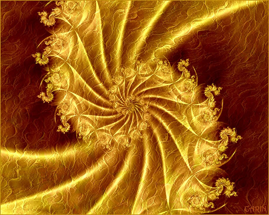 Golden  lace spiral by FractaliaNo1