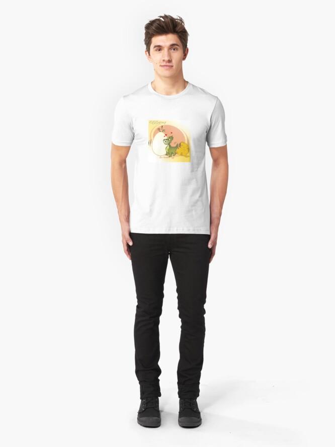 Alternate view of Two Scrambled Eggs - EGGstinct Slim Fit T-Shirt