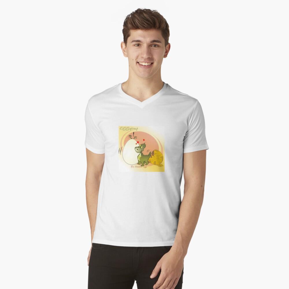 Two Scrambled Eggs - EGGstinct V-Neck T-Shirt
