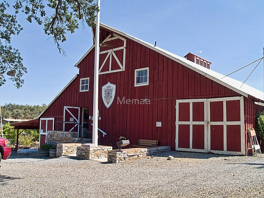 Red Barn Museum of Calavaras County, California by Memaa